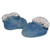 100%cotton denim prewalker shoes for baby