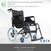 BEST QUALITY FOLDABLE 7003 ALUMINIUM MANUAL WHEELCHAIR FHW-13 WITH FUNCTIONS
