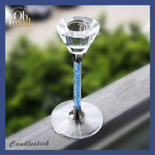Promotional Crystal candle stick/ candlestick/ glass candlestick wholesale glass taper candle holders Weddings