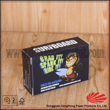 Customized color paper surfboard wax packaging box