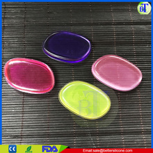 Popular silicone powder puff multi colors Hot transparent long handle powder puff
