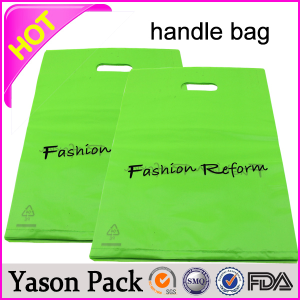 YASON promotional eco handle bagluxury euro tote rope handle bagbeautiful plastic soft-loop handle bag