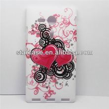 flower printing hard back cover case for sony xperia sp m35h