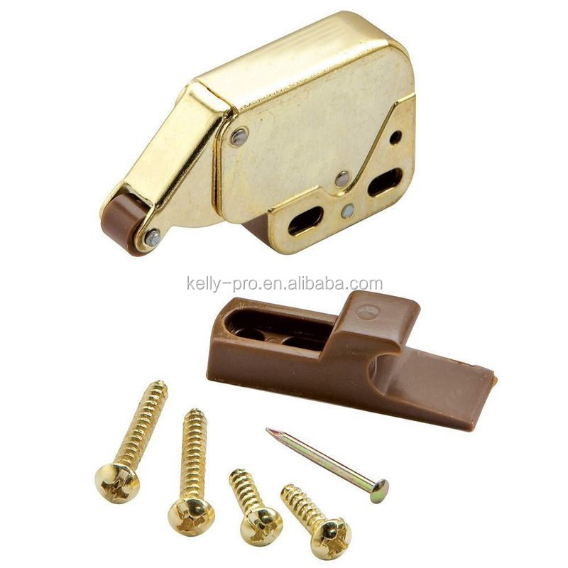 Mini Automatic Touch Latches, Mini Spring Loaded Tip Catches, , Caravan/Boat Cupboard Push Latch Lock