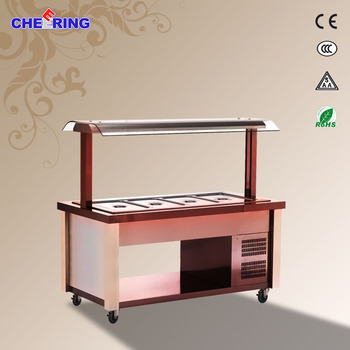 1650*860*1500MM buffet bar for sale printing stainless steel buffet food display