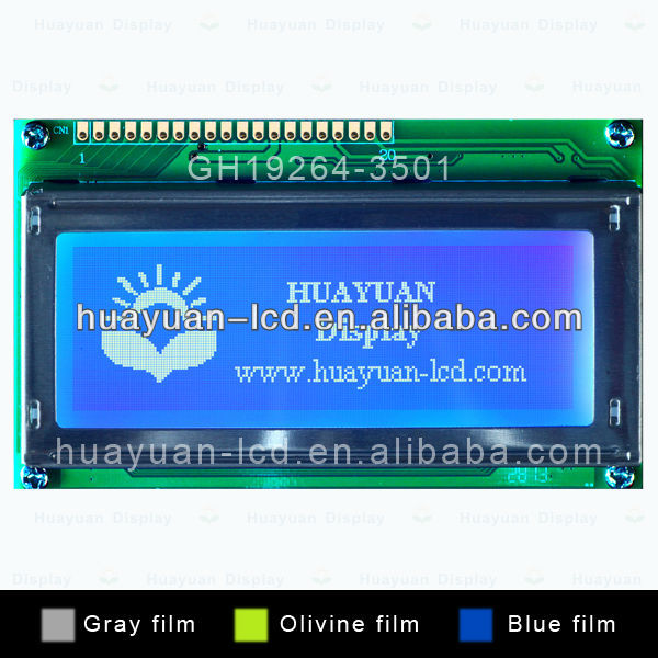 192x64 oem lcd screen modules with ks0107 controller
