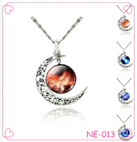 Hot sale new design fashion moon necklace 2015 trend necklace jewelry