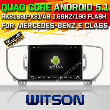 WITSON Android 5.1 AUTO CAR DVD GPS For KIA SPORTAGE 2016 WITH CHIPSET 1080P 16G ROM WIFI 3G INTERNET DVR SUPPORT