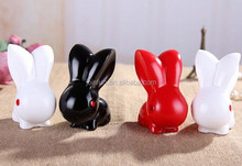 Wholesale pvc rabbit coin bank, large pvc plastic coin bank, cartoon design plastic coin bank