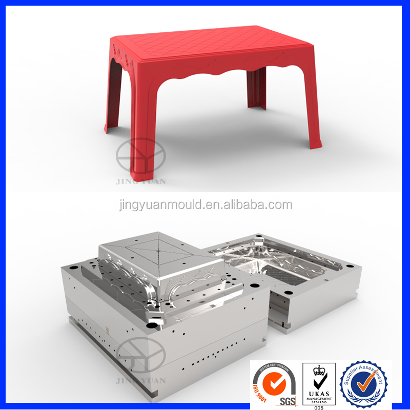 Top level hotsale fashion plastic table moulds/table injection mould factory