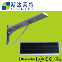 china supplier eneygy saving light control IP 65 LED solar street light without pollution
