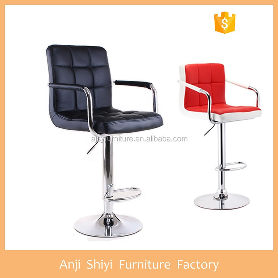Leather height adjustable bar stool high chair