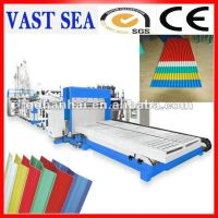corrugated PVC plastic sheet extruding machine