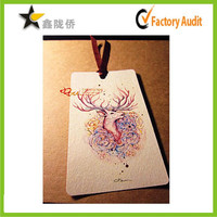 Custom fashion design full color printing in bulk clothing hang tag made in China