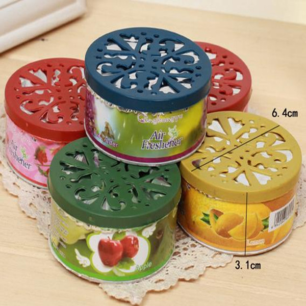 Wholesale fragrance water-based custom hotel or Car solid gel air freshener
