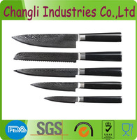 5pcs micartar handle damascus steel knife set