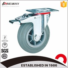 High quality roller bearing PP core caster industrial caster wheel with brake