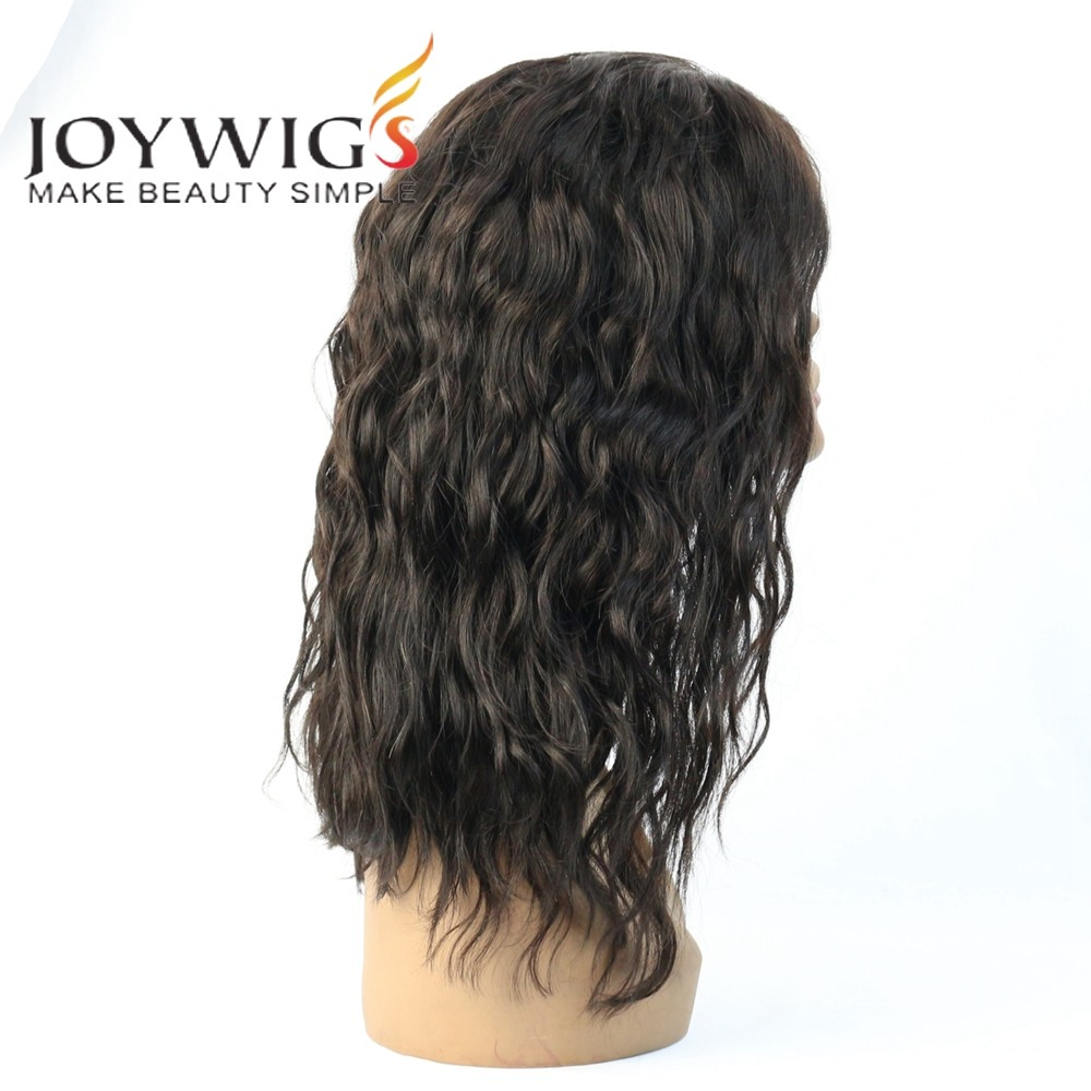 "2016 Joywigs 14"" Natural Color 150% Cheap Lace Front Wig With Baby Hair"