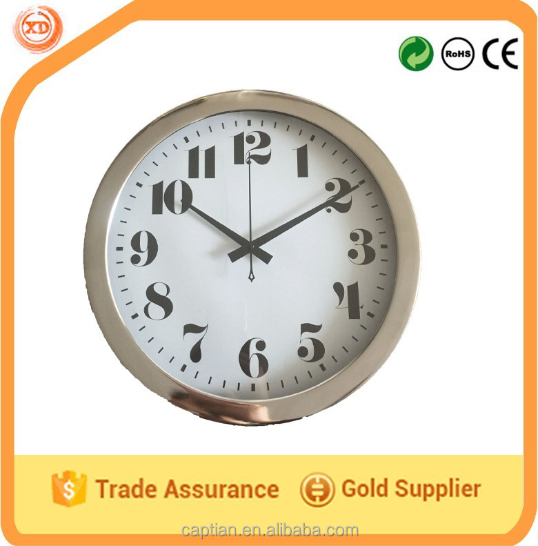 wholesale gold plating customized antique wall clocks
