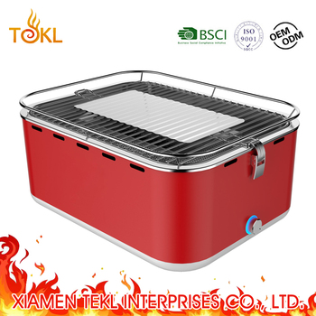 Used Instant Indoor Barbecue Grill Chinese BBQ Smokeless Teppanyaki Grill Barbecue Portable Camping BBQ Charcoal in Square