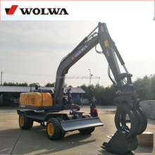 high quality wheel excavator grapper with load weight 450kg