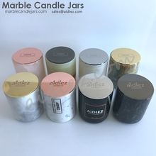 Unique candle jars marble candleholder carrara marble jar