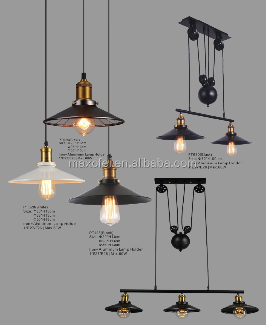 Antique decorative <strong>industrial</strong> bulb pendant lamp for living room/bedroom