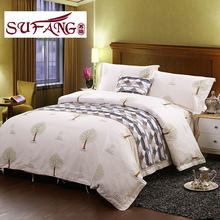 Factory Directly 100 cotton print bedding sets 60s 300TC Cheap and good quality