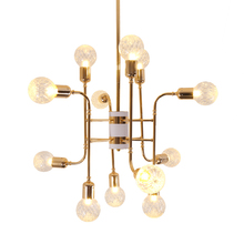 2018 the most popular lighting modern Glass Crystal Chandelier for living room Model