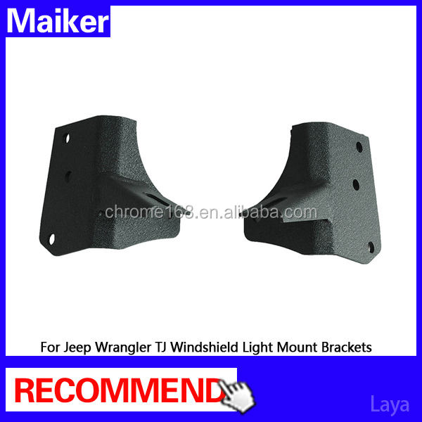 Windshield Light Mount Brackets For Jeep Wrangler TJ 1997-2006 offroad 4x4 accessories