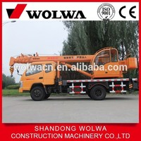 Building construction tools 8 ton mini truck crane GNQY-3200 with japanese engine for sale