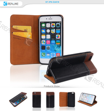 Strong magnetic sublimation pu leather cell phone case for iphone 6
