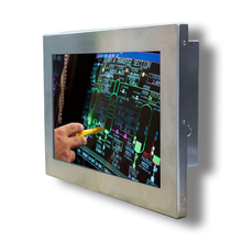 Full IP65 waterproof 12 inch stainless steel industrial resistive touch panel pc for rugged environment