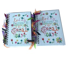 Customized personalized printed custom spiral notebook of Laser paper notebook printing