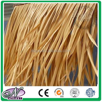 Practical and durable yellow fireproof pvc thatch