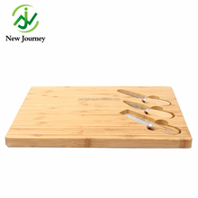 High quality bamboo cheese board with knife set
