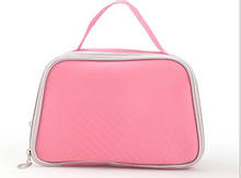 Top quality pink large hold leather make up case