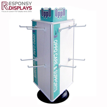 360 degree revolving counter toy display stand with hooks or shelves
