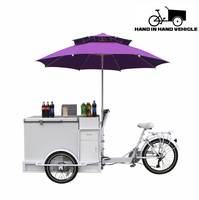 vending coffee bike electric ice cream tricycle with charging battery