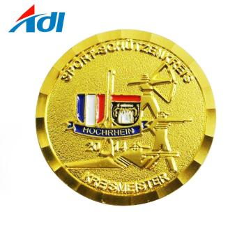 custom metal coin gold plated sovereign coin for collection