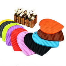 New Creative 18cm Heart Shape Silicone Mat Coaster Cushion Placemat Pot Holder High Quality