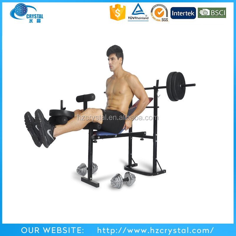 CRYSTAL SJ-7839 Home gym equipment adjustable weight lifting bench for body building