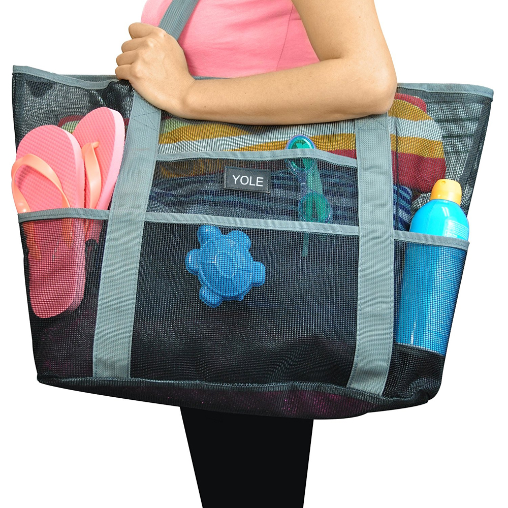 Mesh Beach Bag Toy Tote Bag Large Lightweight Market,Grocery ...