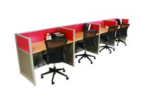 Office Partition / 4-Seater Workstation / Office Furniture