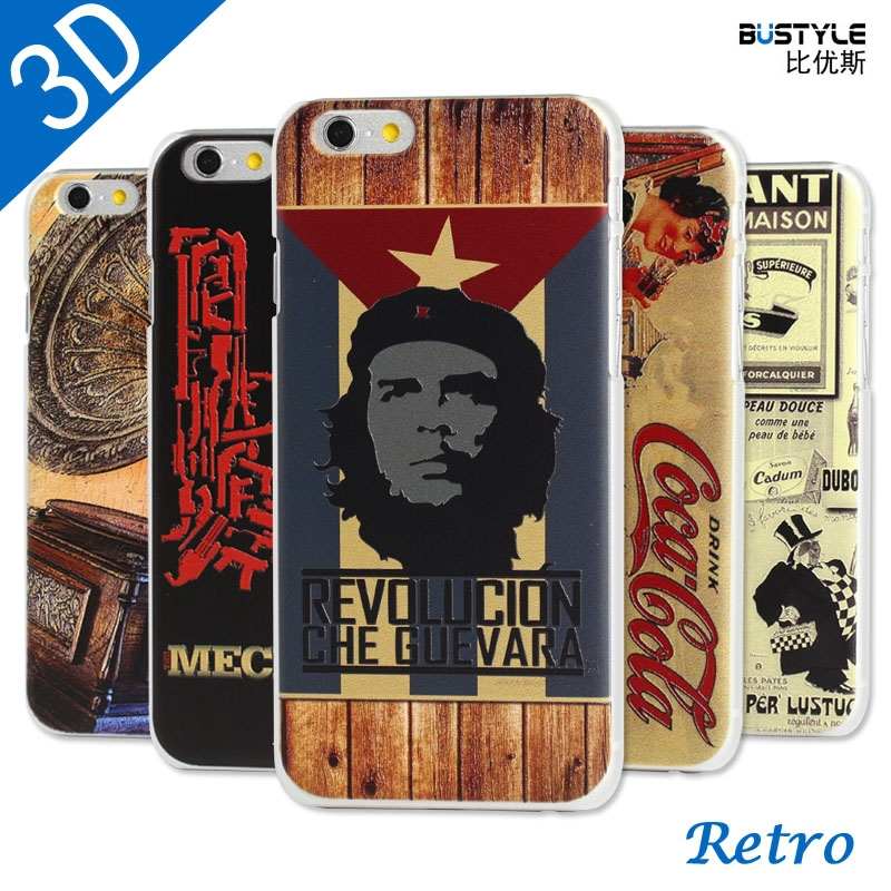 3D Retro Series Design High Quality Cell Phone Case For Apple iPhone 4 5 6 plus Mobile Cover Wholesale