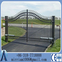 simple wrought iron gate/New design wrought iron fence