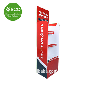 Trade Show Cardboard Display, Paper Display Stand for Light Bulb Display Case