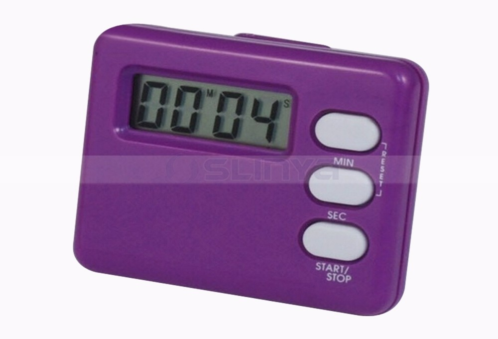 AG13 Battery Power Strong Magnet Stainless Steel Holder Family Count Up Countdown Digital Cooking Timer