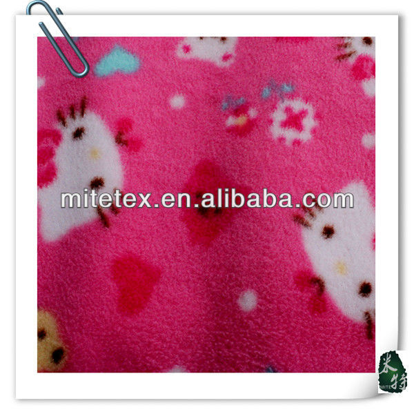 100%poly cat printed fleece fabric for blankets
