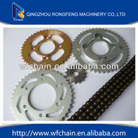 motorcycle rear sets/motocycle chain sprocket sets